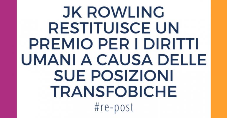 rowling-restituisce-premio-diritti-umani-transfobia